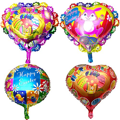12 Happy Ostern Ei Aluminium Folie Ballons Home Garden Yard Dekoration