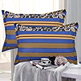 #5: HighLife Ahmedabad Cotton Luxurious 2 Piece Pillow Cover Set (Blue)- 17