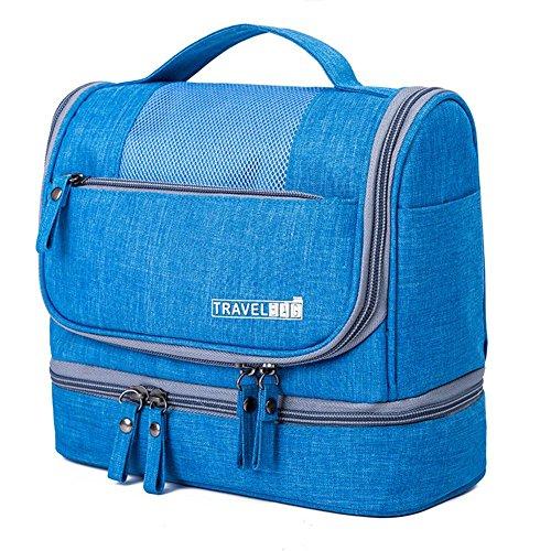 AOLVO Wasserdicht Kosmetiktasche zum aufhängen 600D Oxford Kosmetik Make-up-Organizer für Damen und Herren, trocken- und Trennung Reisen Tasche himmelblau (Reise-tasche Von Vera Bradley)