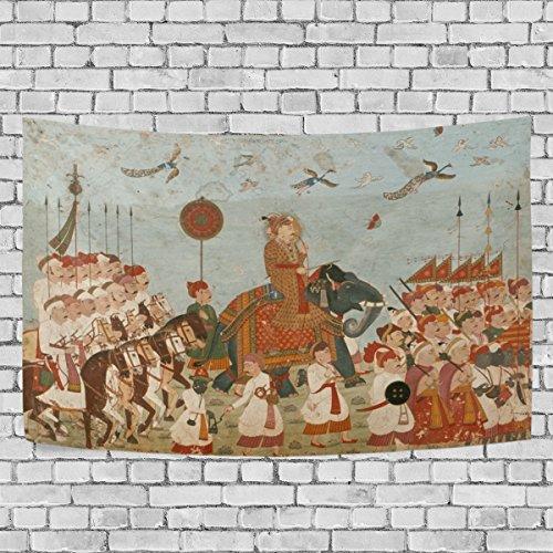 Bennigiry Native American Indian Art Wandteppich für Polyester-Artwork Leichtes-Cottage Wohnheim Art Wand Dekoration zu Hause 152,4x 101,6cm, Polyester, multi, 90x60(in) -