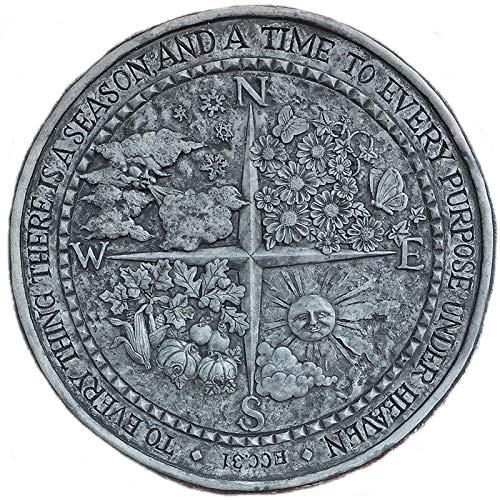 steinfiguren-neumann Steinplatte Vier Jahreszeiten Relief Frühling Sommer Herbst und Winter zum aufhängen