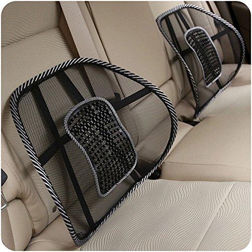 Preisvergleich Produktbild achievess (TM) Neue Komfortable Netz Sessel Relief Rückenschmerzen Lendenwirbelstütze Auto Kissen Büro Stuhl schwarz Lendenkissen Hot Verkauf