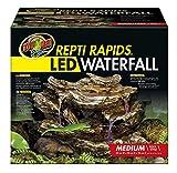 Zoo Med Repti Rapids Wasserinstallation für Terrarien, Modell Steinwasserfall mit LED-Beleuchtung