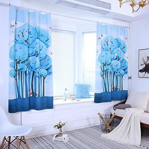 Hohe Schattierung Cartoon Tree Fox Fenster Vorhang Panel Kinder Schlafzimmer Kinderzimmer Dekor