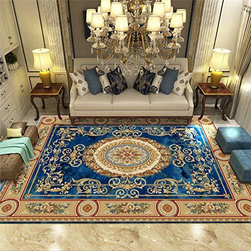 Zhyyhz Orientalische Blumenmotivbereich Teppiche Roter klassischer Muster-Teppich Einfach zu reinigen Weiche Plüschqualität,a,5'2''x7'5'' -