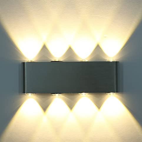 ETiME LED Wandleuchte Dimmbar Wandlampe Flurlampe Warmweiss  Treppenleuchten(8W Dimmbar): Amazon.de: Beleuchtung