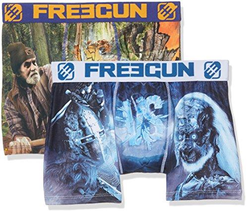 Freegun Herren Taillenslip, 2er Pack Multicolore (Multicolor)