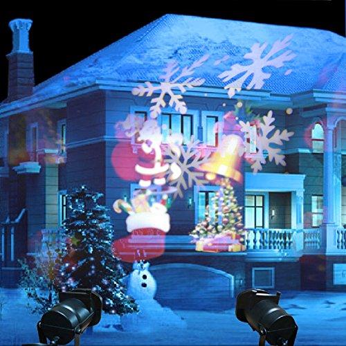 GAXmi LED Luci di Natale All'aperto Interno Proiettori Impermeabile 12