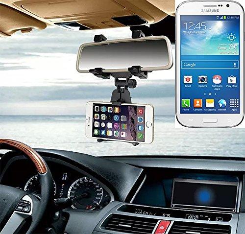 Supporto Smartphone specchietto retrovisore per Samsung Galaxy Grand Neo, nero | Specchio Holder staffa auto - K-S-Trade (TM) - Guida All'acquisto Holder