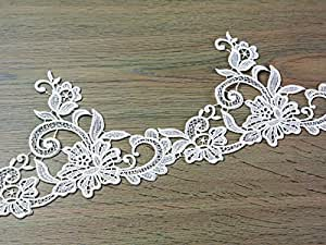 125 mm bordure Guipure mariée Ivoire Couture en dentelle vendu au mètre
