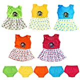 #10: VINAB Cotton Baby Girl's Frock Set (TN835Pcs_12-18 Months) - Pack of 5