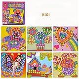 TianranRT Puzzle tridimensionnel autocollants de mosaïque Fun Mosaic Kids Kit de travaux manuels et...