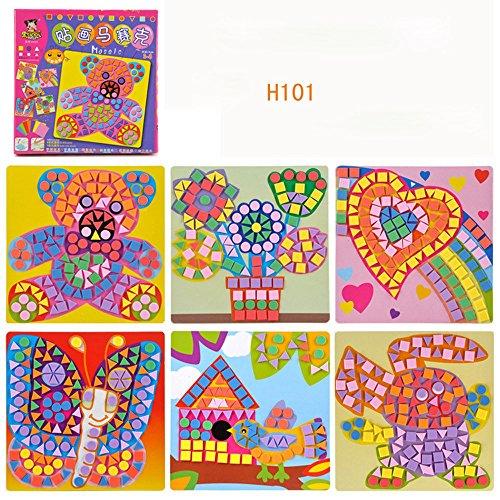 ional Puzzle Mosaik Aufkleber Spaß Mosaik Kinder Kunst & Kunsthandwerk Bausatz Kinder Spielen Aktivität Dekoration Aufkleber (B) ()