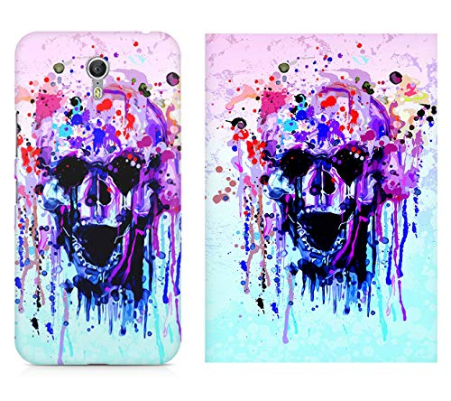 MOTIVATE BOX| 1 Phone Cover and 1 Poster combo| Lenovo Zuk Z1 back cover and 12*18 inches rolled wall poster of Skull colours splashed design Poster and phone cover combo (frames are not included) Color S7CP3787