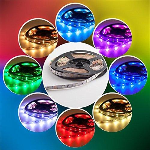 LED Streifen set, 5M 5050 RGB LED Strip lights,Led Band mit Fernbedienung 44 Tasten,Led RGB Controller mit Netzteil 12V 3.5A ,LED Band, LED Lichterkette, LED Lichtschläuche [Energieklasse A+]
