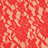 0,5m Spitze Meterware rot 100% Synthetik 1,4m breit