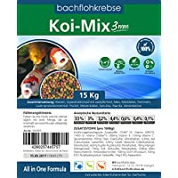 Koimix 3mm - 1 Sack 15 kg (ca 37,5L) Koi Pellets Koifutter, Teichfutter