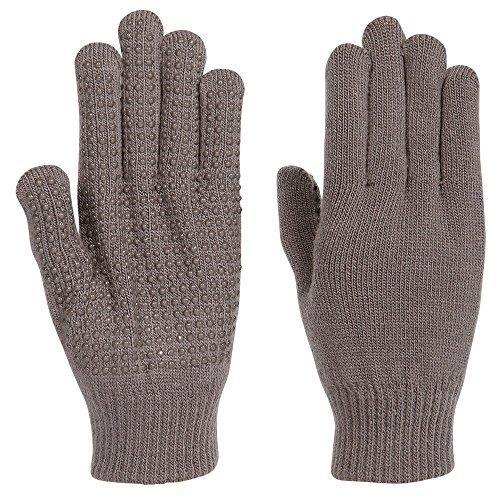 netproshop Unisex Magic Handschuhe mit Gumminoppen Einheitsgröße, Farbe:grau