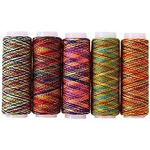 5 piezas de hilo de coser de color arcoíris para bordar ...