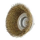 1/4 Inch Edelstahl Drahtbürste Crimped gehärtet Stahl Borsten - Befestigt an den meisten Verunreinigungen zu reinigen & scheuern Oberflächen, Durable & Good Toughness