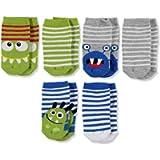 ebebek HelloBaby - 6 Pairs Designed Cotton Ankle Socks - for Boy Girl Newborn Baby Toddler Infant