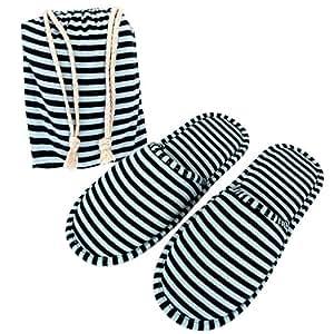 da Viaggio SET Pantofole Paia con di sacchetti Mangostyle 2 wXxq11