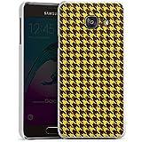 Samsung Galaxy A3 (2016) Housse Étui Protection Coque Pied-de-poule Marron Jaune