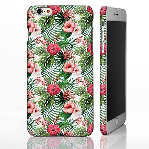iCaseDesigner Étui de téléphone pour iPhone Motif hawaïen/floral/tropical/fête Luau/ exotique/cactus/hibiscus/flamant rose/Palm Spring, plastique, 19: Cactus on White, iPhone 5C - Slim Case 4: Hibiscus on White Background