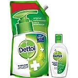 Dettol Germ Protection Liquid Handwash Refill, Original - 750 ml with Dettol Instant Hand Sanitizer - 50ml