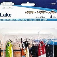 Fladen–Set di 3lago Jointed Wobbler Plug Esca Lure–Confezione da 10cm, 16g, per Pike pesce persico e lucioperca 16–7539]