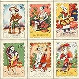 Tela de cartas Alexander Henry calaveras colores EEUU