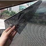 ECYC Adesivi per Vetri Auto Finestra Laterale E Posteriore, 2pcs / Lot Adesivi per Auto Elettrostatica Parasole Auto Adesivi UV 63x42cm