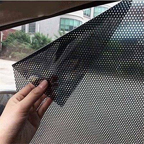 ECYC Auto Fenster Schatten Aufkleber für Seiten und Heckscheibe, 2 teile/los 63x42 cm Uv Aufkleber Auto Sonnenschirm Elektrostatische Aufkleber -
