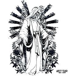 """Temporäre Tätowierung / Temporary Tattoo """"Death Benediction"""" - ArtWear Tattoo Beauty – B0145 M"""