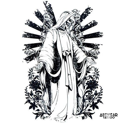"""Temporäre Tätowierung / Temporary Tattoo \""""Death Benediction\"""" - ArtWear Tattoo Beauty – B0145 M"""