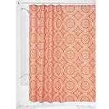 InterDesign Medallion Fabric Shower Curtain, 183 x 183 cm - Sunburst Orange - Best Reviews Guide