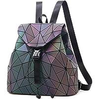Nevenka Zaino Donna Borsa a Spalla Geometrico a Rombo con Colori Luminosi Borse Coulisse Zainetto Backpack alla Moda…