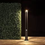 Wegeleuchte LED 5,5W 3000K   Wegelampe 80cm modern   Außenleuchte anthrazit IP54   Garten Terrassen-Leuchte   Lampe Aussen 230V grau inkl. 1x LED-Leuchtmittel