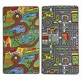 Small Foot by Legler Spielteppich 2-in-1 100x165 cm - Kinderspielzeug - Teppich fürs Kinderzimmer