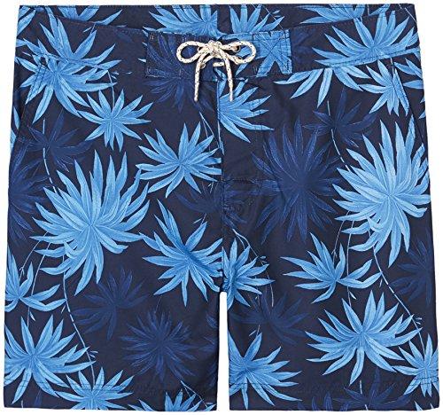 FIND Herren Badeshorts mit Blumenmuster Mehrfarbig (Floral/Hibicus)