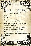 Death Note Rules - Manga - Anime Poster Plakat Druck - Größe 61x91,5 cm