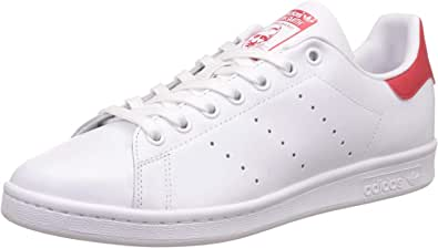 adidas Originals, Stan Smith, Sneakers, Unisex - Adulto, Bianco (Footwear White/Collegiate Red), 42 EU