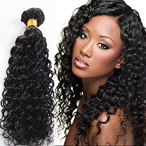 ecowboy 20,3cm 25,4cm 30,5cm Jerry Curl (Gelockt), brasilianisches echthaar erfahrungen Wavy Hair Weave Extensions.