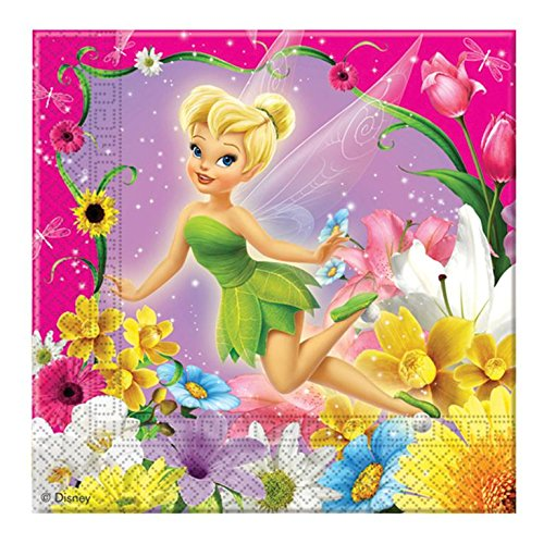 Procos 1014–Servietten Papier Disney Fairies, 33x 33cm, 2-lagig, 20Stück, Pink