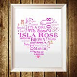 New Baby Personalised Print Word Art Gift Boy - Best Reviews Guide
