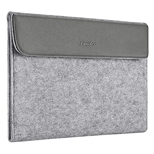 EasyAcc 13-13.3 Zoll Laptoptasche PU Leder und Filz Laptop Tasche Hülle Sleeve für 13