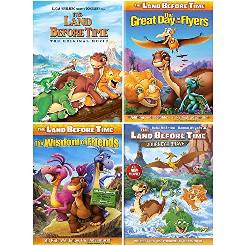 The Land Before Time: 4 Movie DVD Bundle (Original / Journey of the Brave / Great Day of the Flyers / Wisdom of Friends)