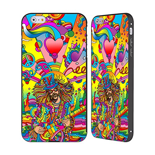 Ufficiale Howie Green Cantante Hippie Psichedelico Nero Cover Contorno con Bumper in Alluminio per Apple iPhone 5 / 5s / SE Cantante Hippie 3