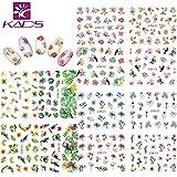 KADS Nail Art Stickers Plantilla Uñas Decoración Pegatinas de arte-...