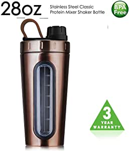 TOPWARE Shaker Bottle Stainless Steel Classic Protein Mixer